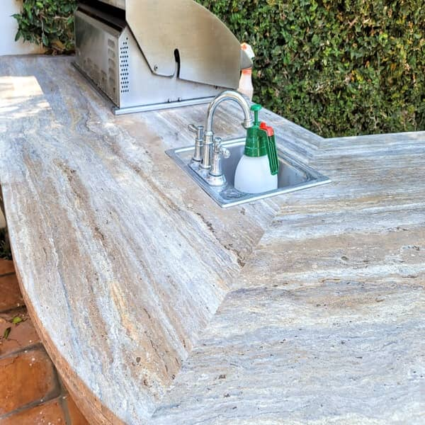 outdoor countertop restoration