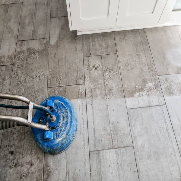 ceramic wood-style tile cleaning steam cleaning