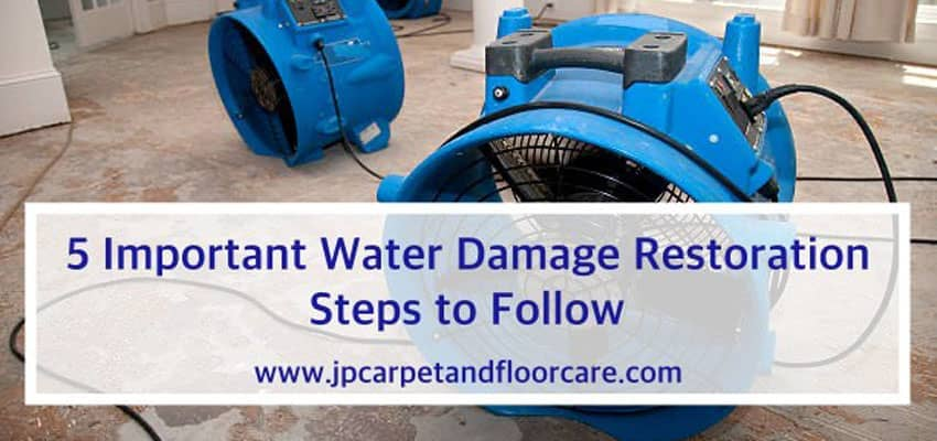 Steps to take for water damage