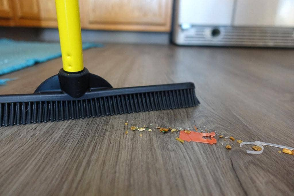 hardwood floor sweeping